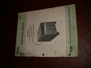 Lincoln Welder Idealarc 300 400 500 Dc Model Operation Parts Manual