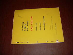Sperry New Holland 346 Manure Spreader Parts Catalog