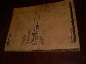 Caterpillar Cat 563 Compactor Parts Manual