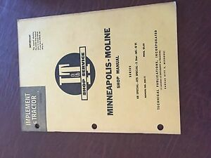 I t Minneapolis Moline Avery Shop Tractor Shop Manual Ms G Uts Ub