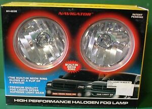 New 4 Inch Universal Car Truck Fog Lights Lamps Red Neon Glow Ring 12 Free Bulbs
