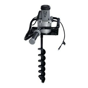 1200w Electric 110v 1 6hp Post Hole Digger Earth Soil Ice W 4 Auger Bit