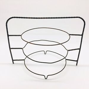 Vintage Primitive Twisted Wire 3 Tier Level Pie Cooling Rack Metal Riser Stand