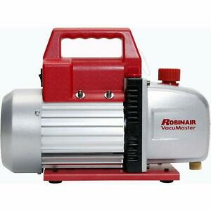 Robinair Heavy Duty 1 3 Horsepower Two Stage Motor Aluminum Vacuum Pump W Valve