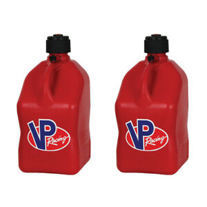 Vp Racing 5 Gallon Motorsport Racing Fuel Utility Jug Gas Can Red 2 Pack