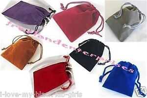 Jewelry Pouches Velour velvet Type Pouches 1 Of Each X 7 Colors 3 X 4 7