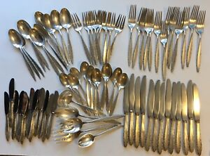 Lunt Sterling Silver Lace Point 75 Piece Flatware Service For 12 No Monogram