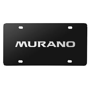 Nissan Murano 3d Brush Metal Look Logo Black Stainless Steel License Plate