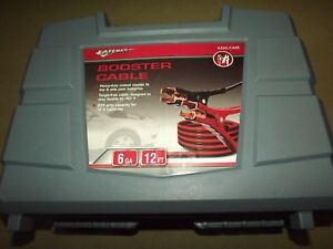 Safemate Heavy Duty Booster Jumper Cable 6 Gauge 12 Ft