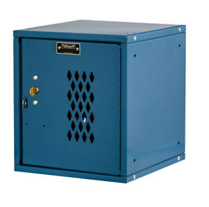 Hallowell Cubix 1 Tier 1 Wide Employee Locker Marine Blue