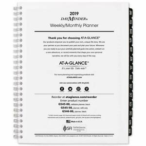 At a glance 2019 Weekly Monthly Planner Refill Dayminder 7 X 8 3 4 Medium