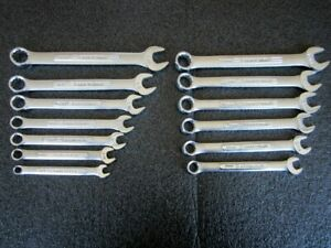 Classic Craftsman Vv series 13pc Sae Metric Combination Wrench Set Made In Usa