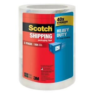 3m Scotch 1 88 In X 54 6 Yds Heavy duty Shipping Packaging Tape 3 pack
