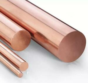 Us Stock 15mm Dia 9 85 Long 99 9 Pure Copper T2 Cu Metal Rods Cylinder