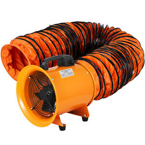 8 Extractor Fan Blower Portable W 5m Duct Hose Exhaust Ventilator Rubber Feet