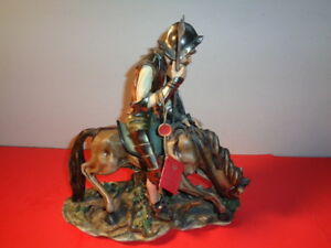 Rare Capodimonte Cortese Signed 335 Don Quixote Riding Horse 11 5 By 11 By 5