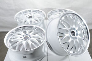 17 4x100 4x114 3 White Wheels Fits Honda Accord Civic Elantra Miata 4 Lug Rims