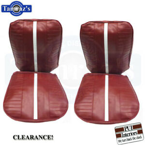 1967 Chevy Ii Nova Front Bucket Seat Upholstery Covers Red Pui Clearance