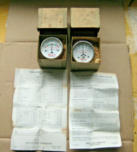 Snap On Lot Of 2 Vintage Indicator Gauges s Mt109c Mt110 Usa Box Papers