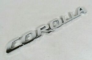 Toyota Corolla Emblem 09 18 Rear Trunk Chrome Badge Back Sign Symbol Logo Name
