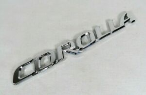 Toyota Corolla Emblem 03 08 Rear Trunk Chrome Badge Back Logo Symbol Sign Name