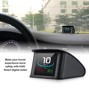 P10 Car Hud Head Up Display Obd Scanner Obd2 Digital Speedometer Overspeed Alarm