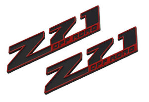 2x Small Z71 Off Emblems 3d Badge Decal For Gmc Chevy Silverado Sierra Colorado
