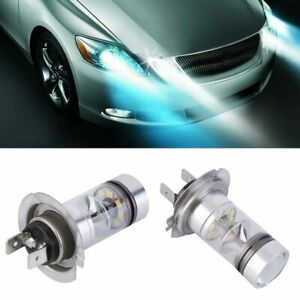 2x H7 6000k 100w Led 20 Smd Projector Car Fog Driving Drl Light Bulbs Hid White