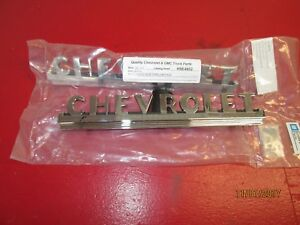 1949 52 Chevy Truck One Pair Chrome Hood Side Emblems With Mounting Hardware