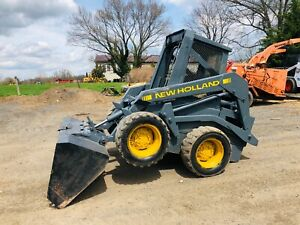 Newholland Ls 455 skid Steer Loader Diesel Cat Plow Tractor Clean we Ship