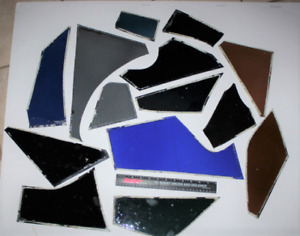 14 Pieces 7 Pounds Of Vintage Stained Glass