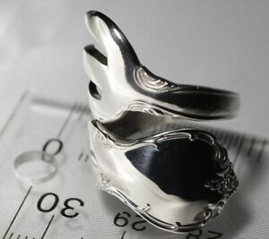 The Most Unusual Towle Old Master Sterling Silver Spoon Ring Free Shipping