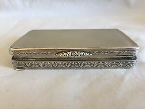 Vintage Hallmarked 925 Sterling Silver Big Box With Stone Top 83g