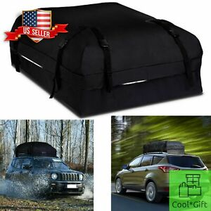 Rooftop Cargo Carrier Bag Car Luggage Roof Bag Weather Resistant Box Vans Suv