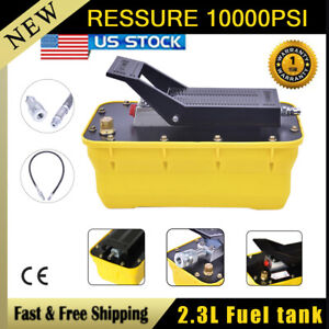 Air Hydraulic Foot Pedal Pump 10 000psi Auto Body Frame Machines Pneumatic 2 3l