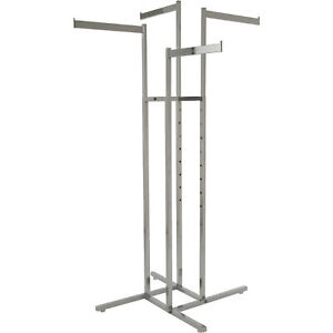 Econoco 4 way Straight Arm Display Rack W square Tubing 48in 72inh Model K13