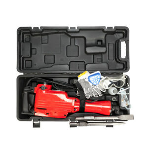 High Power 2200w Electric Demolition Jack Hammer Concrete Breaker Chisel Bit Red