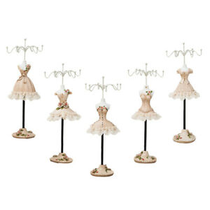 5pcs 25cm Jewelry Display Stand W Hook Dress Model For Holding Necklace