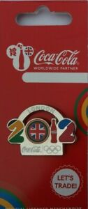OFFICIAL COCA COLA LONDON 2012 OLYMPIC TYPEFACE PIN BADGE BRAND NEW
