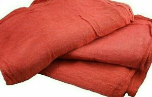 2500 Pack New Industrial Commercial Standard Red Shop Cleaning Towel Rags