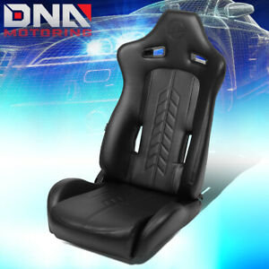 Nrg Innovations Rsc 810bk Right Side Arrow Pvc All Reclinable Racing Bucket Seat