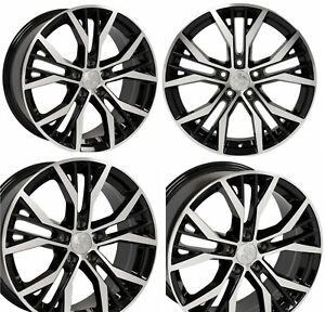 18x8 Wheels For Vw Jetta Gti Passat Eos Beetle 18 Inch 45 5x112 Rims Set 4