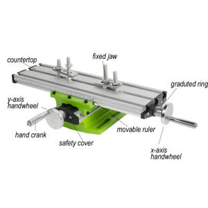 Usa Safty Use Milling Machine Cross Sliding Table Vise For Diy Lathe Bench Drill
