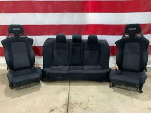 Mitsubishi Evolution 10 Recaro Seat Set Front Rear Evo X 2008 2015 Mr Gsr