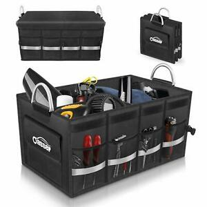 Oasser Trunk Cargo Storage Organizer Collapsible Multi Compartments For Car Suv