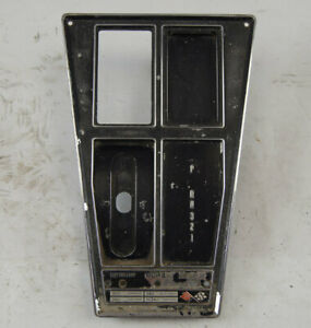 1970 1971 Chevy Corvette C3 Automatic Shift Console Plate Used 3963153 3963156