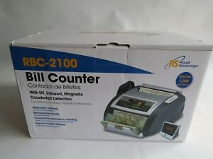 Money Currency Dollar Cash Bill Counter Rbc2100 Uv Ir Magnetic Royal Sovereign