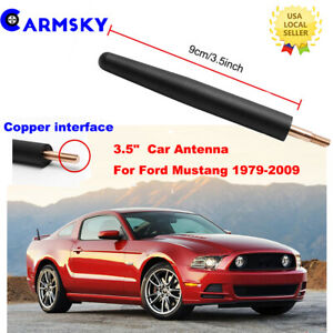 For 1979 2009 Ford Mustang Short Radio Antenna 3 5 Black Billet Stealth Stubby
