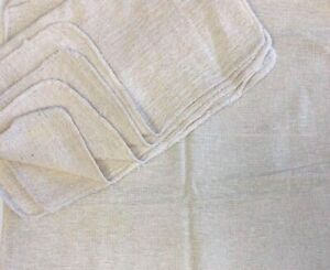 1000 Pieces Industrial Shop Rags Cleaning Towels Natural 18 x18