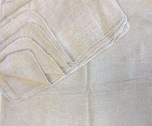 2500 Pieces Industrial Shop Rags Cleaning Towels Natural 18 x18